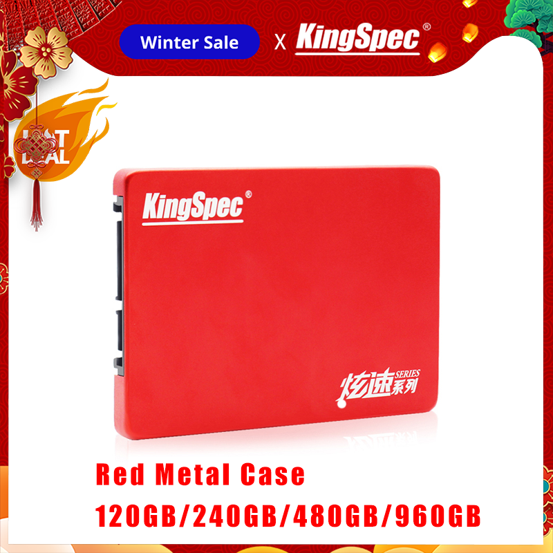 New KingSpec HDD 2.5 SATA SSD 120GB 240GB SSD 480GB 960GB SATAIII Hard Disk Disco Internal Duro Drive For Laptop Tablet Desktop image