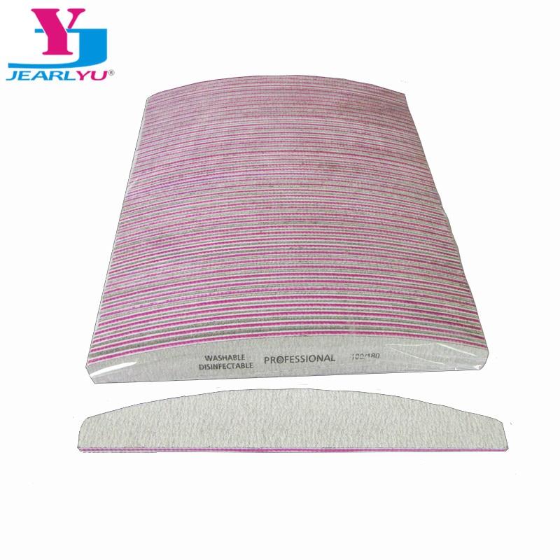 50 X Professional Nail File 100/180 Sandpaper Buffing Nail Polish Unha Limas Manicure Ongle Pilnik Do Paznokci Tool Nail Shine