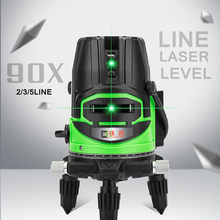 3D 2/3 Lines Laser Levels Green Light High-precision Self Leveling 360 Degree Horizontal & Vertical Cross Waterproof AC 100-240V(China)