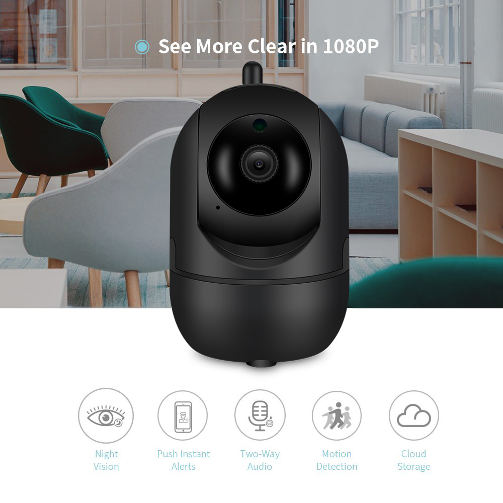 Image 2 - BESDER 1080P Wireless IP Camera Intelligent Human Auto Tracking Indoor Home Security Surveillance CCTV Network WiFi CCTV Camera-in Surveillance Cameras from Security & Protection