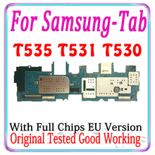 Free shipping Original Unlocked For Samsung Galaxy Tab 4 10.1 T530 T535 T531 Motherboard EU Version logic board with chips MB