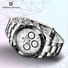 PAGANI tasarım 2019 yeni erkek saatler spor Quartz saat erkekler çelik su geçirmez saat erkek moda Chronograph Relogio Masculino
