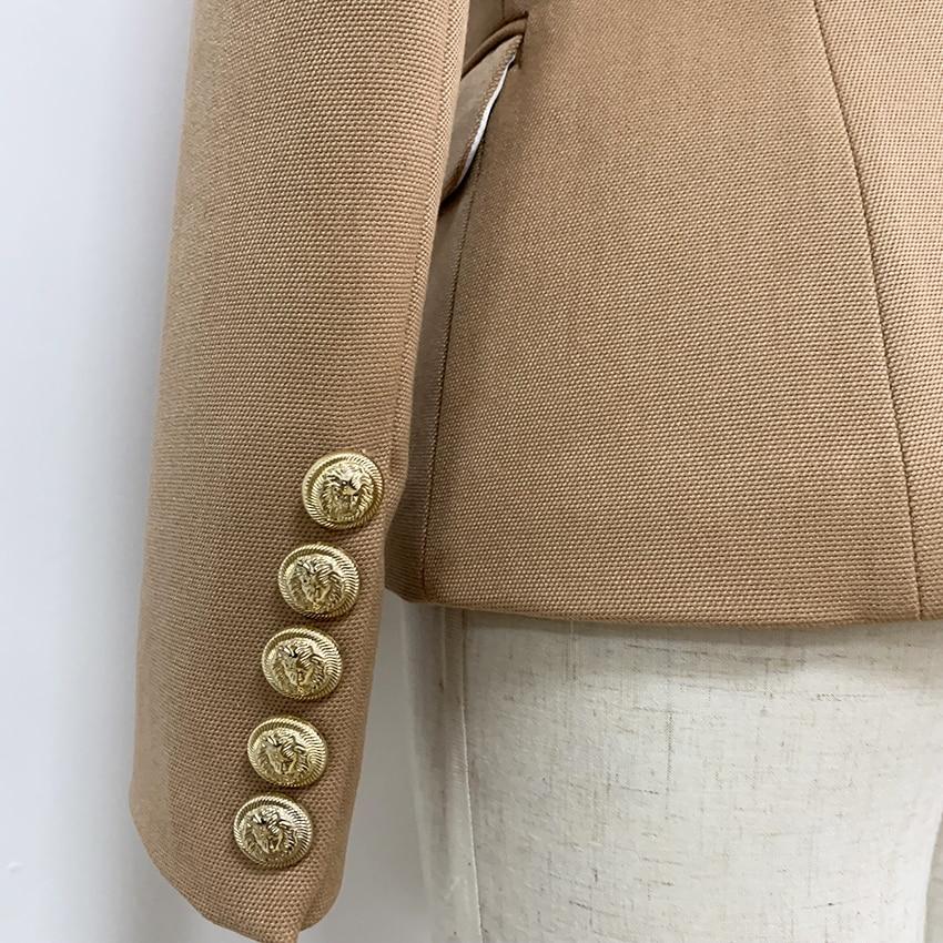 Image 4 - HIGH QUALITY New Fashion 2020 Baroque Designer Blazer Jacket  Womens Slim Fitting Metal Lion Button BlazerBlazers