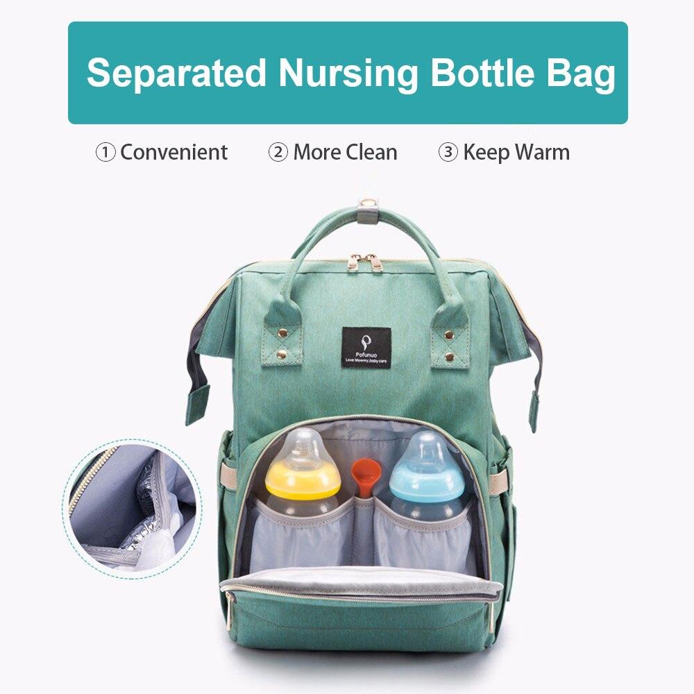 Hcdaa725158f84c9d873c3199564cb8fen Diaper Bag With USB Interface Large Capacity Travel Backpack Nursing Handbag Waterproof Nappy Bag Kits Mummy Maternity Baby Bag