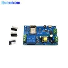 ESP8266 WiFi único módulo de canal de relé AC90-250V DC7-12V USB 5V ESP-12F Placa de desarrollo AC/DC fuente de alimentación para Arduino