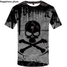 2019 Summer NEW Men/women Male Short sleeve Shirts Skull 3D Men Tshirt Top Quality Brand Clothing Mens Funny