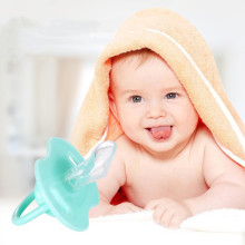 1 шт. детский соска Пищевая силиконовая соска с круглой головкой Детские игрушки для новорожденных ортодонтический безопасный, не содержит БФА уход за прорезывателем зубов