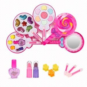 Image 4 - Çocuklar makyaj oyuncak seti oyna Pretend prenses pembe makyaj güzellik güvenlik toksik olmayan seti oyuncaklar kızlar soyunma kozmetik kız hediyeler