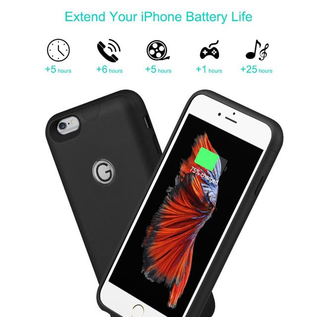 3000mAh Battery Case Battery Charger for iPhone 6/ 6s Plus Power Bank Charging Case for iPhone 6/ 6s Plus Battery Charger Cover.