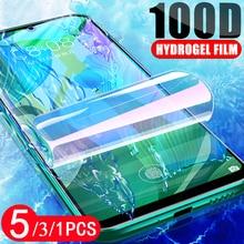 5/3/1Pcs for xiaomi redmi note 9 9s 8 8T pro MAX redmi 10X pro 9C 9A hydrogel film Not Glass 8A protective screen protector film