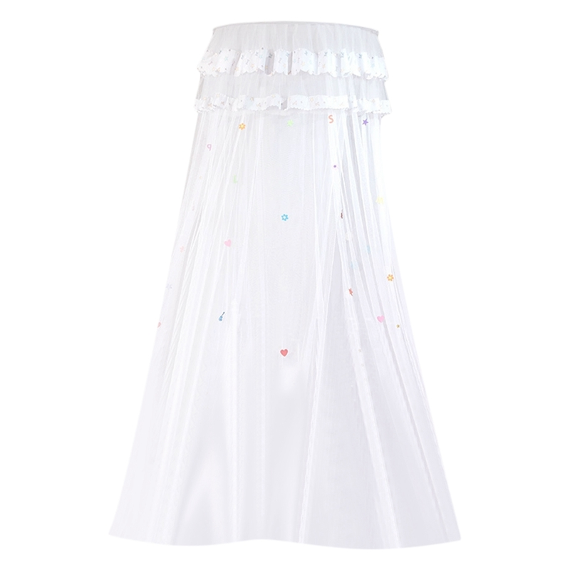Children Elegant Tulle Bed Dome Bed Netting Canopy Circular Round Dome Bedding Mosquito Net,White