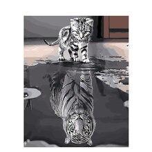 Gatyztory рамка прекрасный кот diy картина по номерам набор