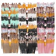 Набор кистей для макияжа 20 шт., для основы под макияж, пудры, румян, теней, консилера, губ, глаз, косметический инструмент