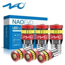NAO T10 W5W 5W5 6x1.8W lâmpadas LED para Carro Interior Side Estacionamento Luz 3030 V WY5W 12 194 168 3014 Chip de Auto Dome Bulb Wedge