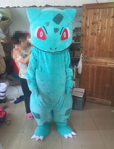 Pokemon Bulbasaur cartoon Mascot Costume adult size Fancy Dress Christmas carvinal Party for Halloween cosplayMascot   -