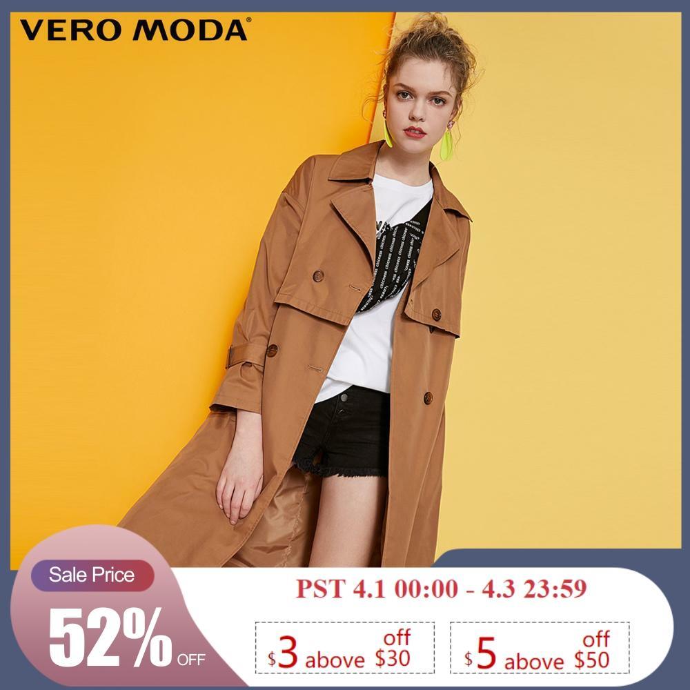 Vero Moda Women's Lapel Double-Breasted Trench Coat   319121522