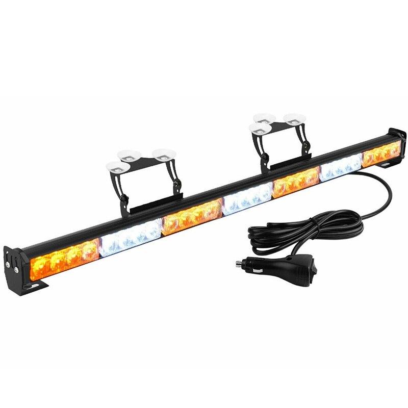 DHBH-31 Inch 28W Emergency Warning Flash Strobe LED Light Bar Traffic Advisor Light 12-24V