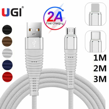 UGI Fast Charge Cable Data Cable For IOS Type C USB C Nylon Braided Data Transfer Cloth Quick Charge Micro USB Charger 2A White apple mjwt2zm a usb c charge cable 2 м white