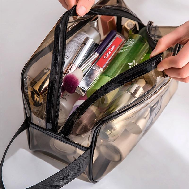 M001 Hot Waterproof Transparent Make-up Bags Thickening Translucent Travel Makeup Bag Hand Wash Gargle Bag PVC Cosmetic Bags