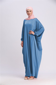 Muslim Prayer Garment Hijab Dress Women Bat Sleeve Jilbab Abaya Islam Kaftan Robe Ramadan Loose