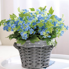 Artificial Flowers 4 Heads Imitation Hydrangea Fake DIY Wedding Decoration Home Bouquet Faux Branch