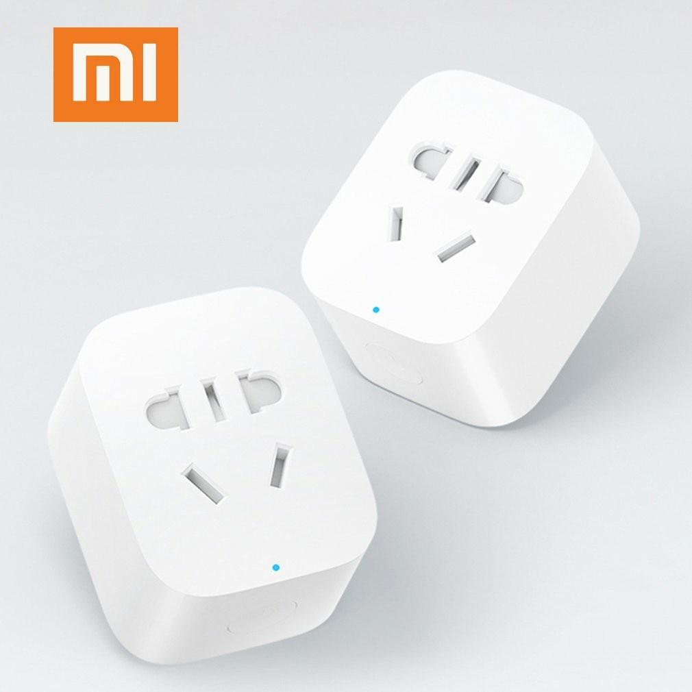 100% Original Xiaomi mijia Smart Socket Plug WiFi Wireless Remote Socket Adaptor Power on and off with phone Drop shipping