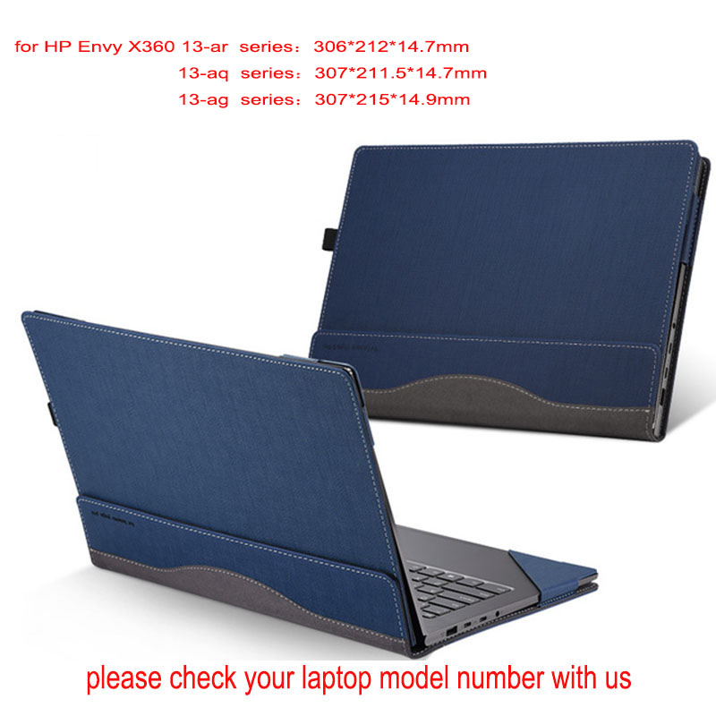 Detachable Laptop Cover For Hp Envy X360 13.3 Inch Creative Design Sleeve Case Pu Leather Skin 13 Inch Stylus As Gift