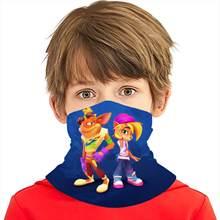 ゲームクラッシュbandicootスカーフクライミング防風ネックウォームスカーフ大人/子供冬釣り多目的スカーフバンダナバラクラバ