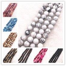 Natural Stone Bead Tiger Eye /Dream Fire Dragon Veins/White Howlite/Stripe Onyx Agat Loose Beads For Making Bracelet DIY