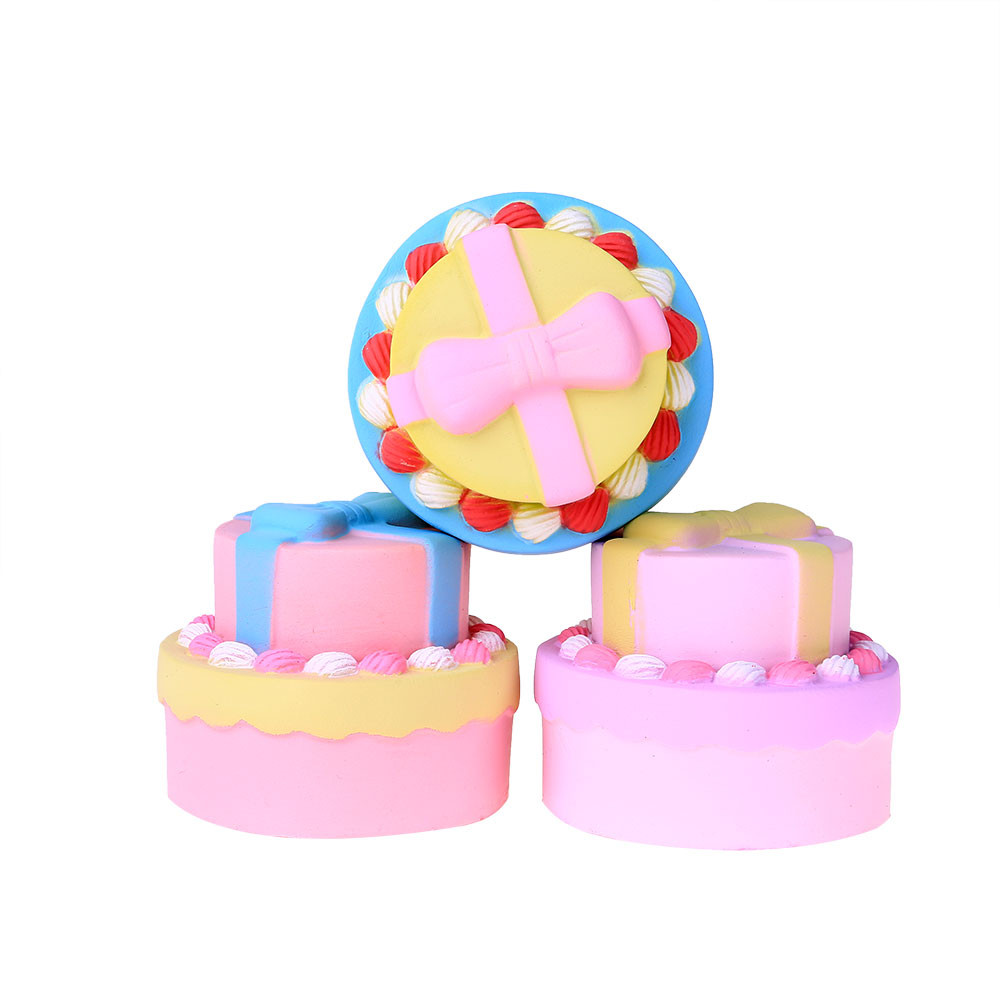 Antistress For Hands Jumbo Bow Cake Scented Super Slow Rising Scented Relieve Stress Kids Toy Squeeze Funny Toy L108