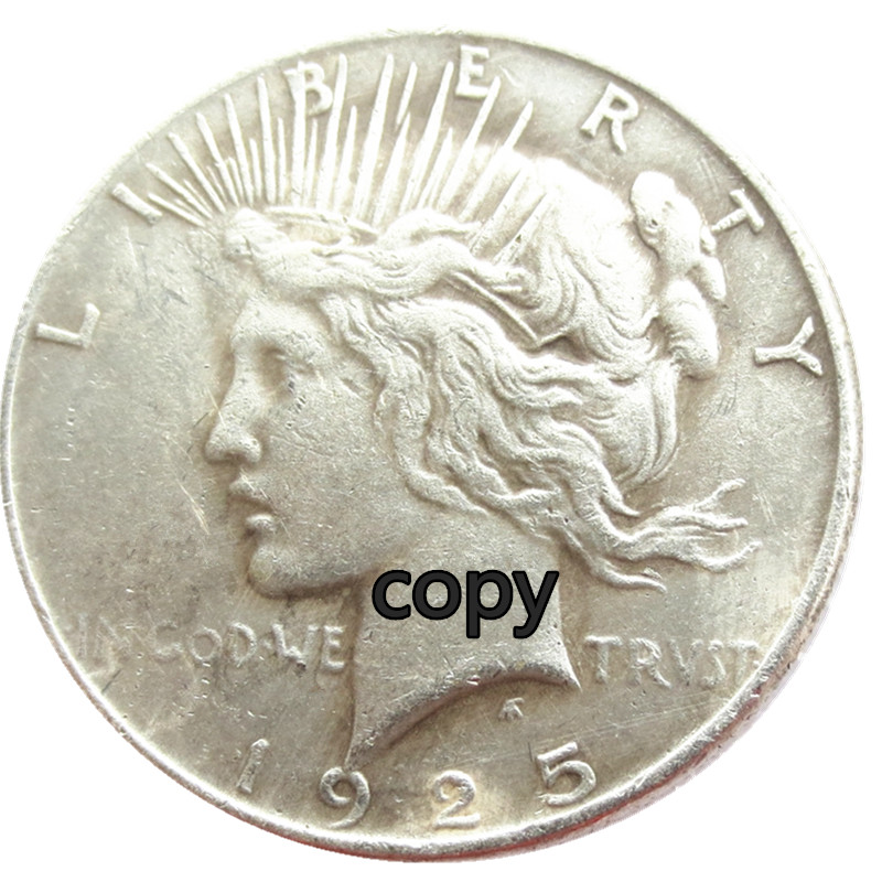 Wholesale Silver Plated Peace Dollar 1921 1964 25pieces Copy Coins