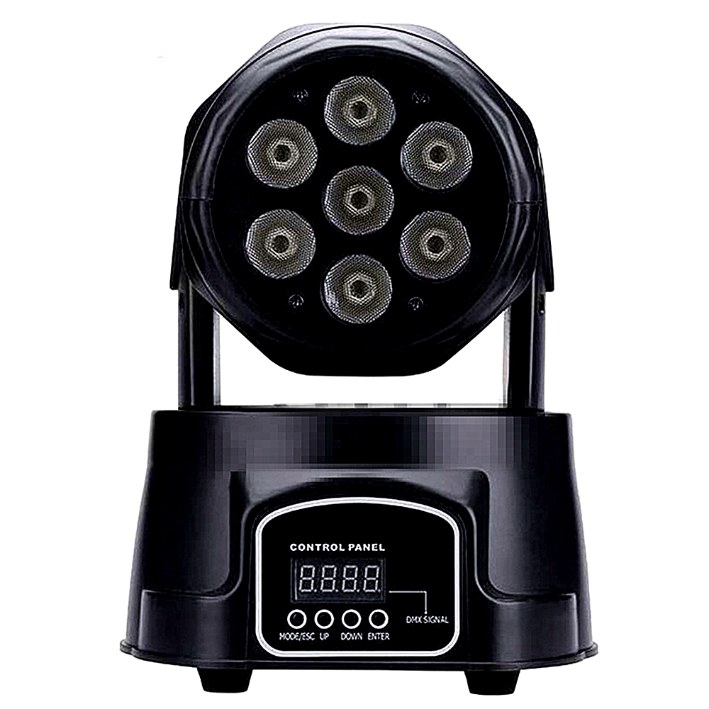 America CREE LED Led Wash Mini Moving Head Light 7x12w Rgbw 4in1 Led Xmas Christmas Advanced DMX 9/14 Channels Dj Band Lights
