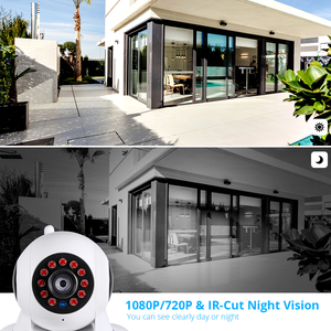 Image 4 - KERUI בית אבטחת 1080P HD IP מצלמה מקורה אלחוטי Wifi מעקב עם ראיית לילה אינפרא אדום רשת אינטרנט מצלמה