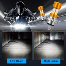 Motorcycle Headlight H4 BA20D COB 12V LED Moto farol moto High/Low Beam Led Bulbs 1200LM Super Bright Autobike Fog Lamp