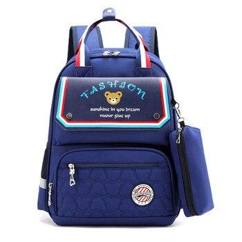 цена на 2020 Orthopedic Backpack Girl School Bags Set Kids School Book Bag Children Knapsack School Bag For Girls Boys Satchel