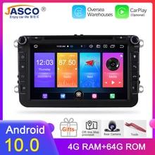 Android 10.0 Auto Dvd Radio Speler Voor Skoda/Octavia/Fabia/Roomster/Yeti/Vw/Seat/Leon Audio Auto Stereo Fm Gps Navigatie Radio