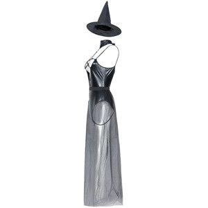 Image 4 - VASHEJIANG Couro Sexy Traje Da Bruxa para As Mulheres Adultas Halloween Sexy Lace Magia Bruxa do Vôo Uniforme Cosplay Traje Engraçado