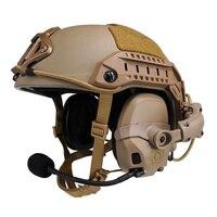 FCS Tactical AMP HeadSet Head & Helmet-mounted Pickup Noise Reduction Military Aviation Communication AMP Headphone