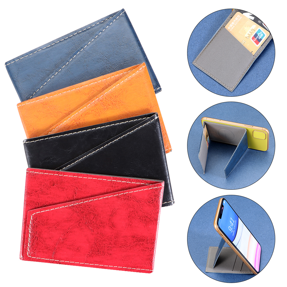1pc Unisex Adhesive Sticker Cellphone Card Holder Mobile Wallet Card Package Invisible Stands Folding Bracket Phone Wallet Case