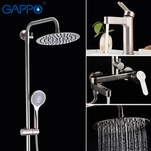GAPPO stainless steel  Shower System wall mounted bathroom shower waterfall faucet bathroom Rainfall shower set bath tub faucet цена