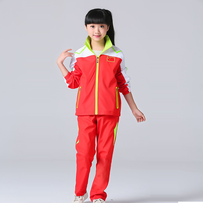 Spring And Autumn National Team Parent And Child Sports Set Men And Women School Uniform Children Long Sleeve Martial Arts Sport