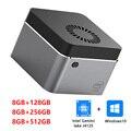 4 к Windows 10 Мини ПК Коробка Intel Celeron J4125 4 ядра LPDDR4 8 Гб 128 ГБ 256 ГБ 512 ГБ SSD USB-C умный компьютерный VS LarkBox J4115