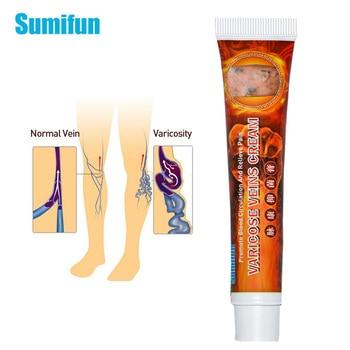 1pcs  Sumifun Varicose Veins Cream Varicosity Angiitis Remedy Ointment Veins Pain Phlebitis Herb Skin Care Medical Plaster P1109 1