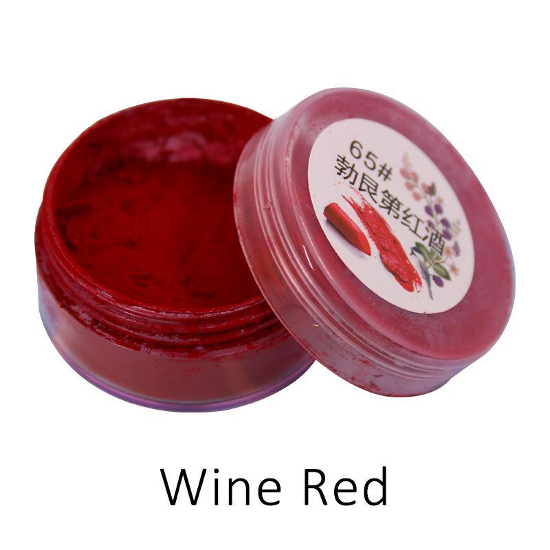 1g Per Bottle Wine Red Color Lipstick Powder For Comestic Makeup Long Lasting Lip Gloss Pigment Mica Powder