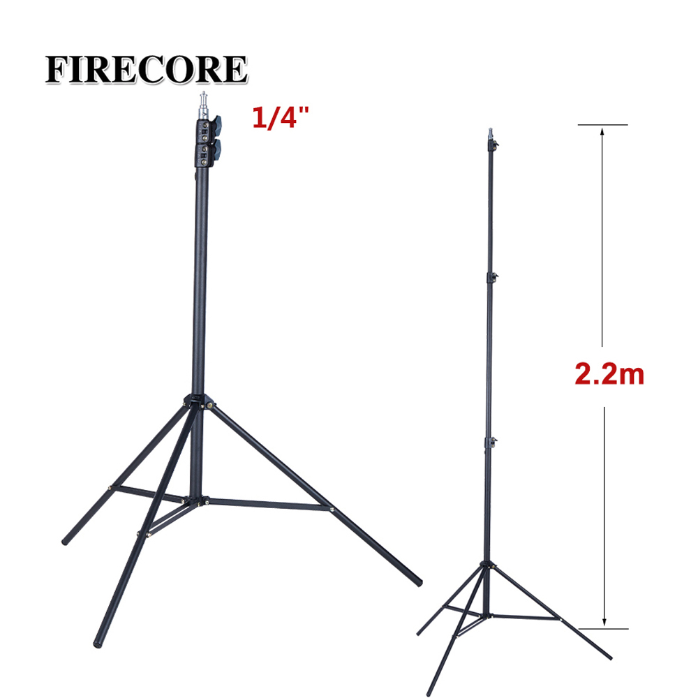 FIRECORE Metal Tripod 2.2M Laser Level Nivel Laser Tripod For Laser Level 3 Knots Adjustable 1/4