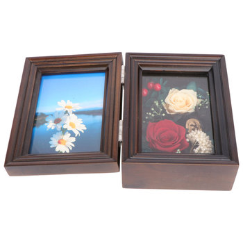 1pc ozdoba zdjęcia ramka na zdjęcia suszony kwiat drewniane ramka na zdjęcia obraz w ramie uchwyt na zdjęcie zdjęcie tanie i dobre opinie CN (pochodzenie)