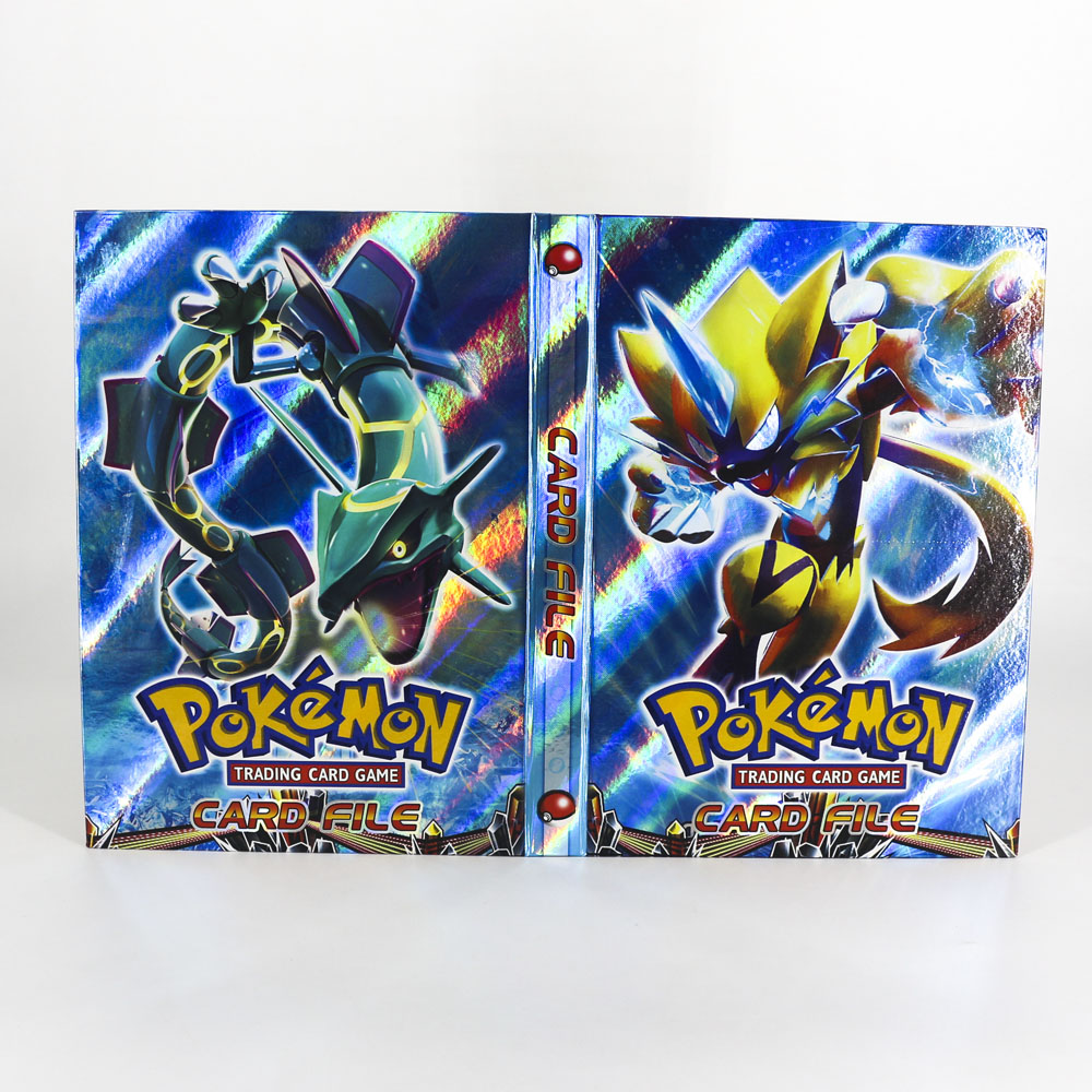 Takara Tomy Pokemon Card Album Book Pikachu Table Board Game Toys Collection Hold 96 Cards Accessories For Children Gifts