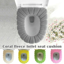Universal Toilet Seat Cover Lithe Warm Thickening Coral Fleece Cushion Washable QP2