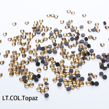 Large Package LT.COL.Topaz Glass DMC Hot Fix Rhinestones Flatback Crystal Hotfix Iron On Stones For Wedding Dress