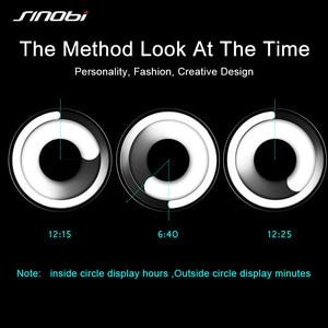 Image 3 - SINOBI Reloj único Vortex Concept para hombre, acero inoxidable 316L, banda de Milán, deportivo, de pulsera, negro